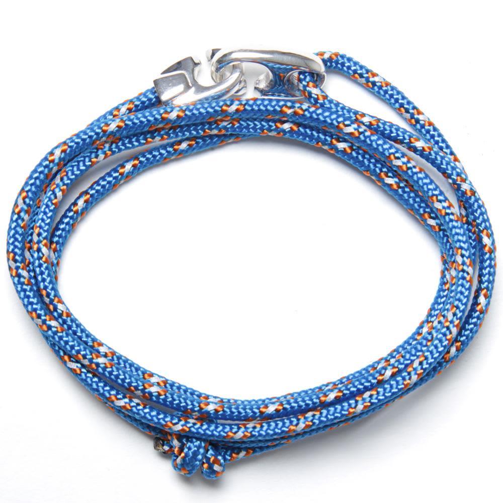 Miansai Bind Rope Silver Bracelet  - Caribbean
