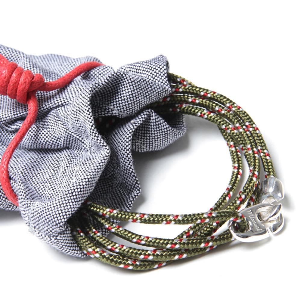 Miansai Bind Rope Silver Bracelet  - Olive