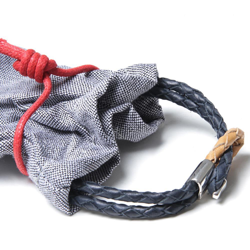 Miansai Savoy Leather Bracelet - Navy
