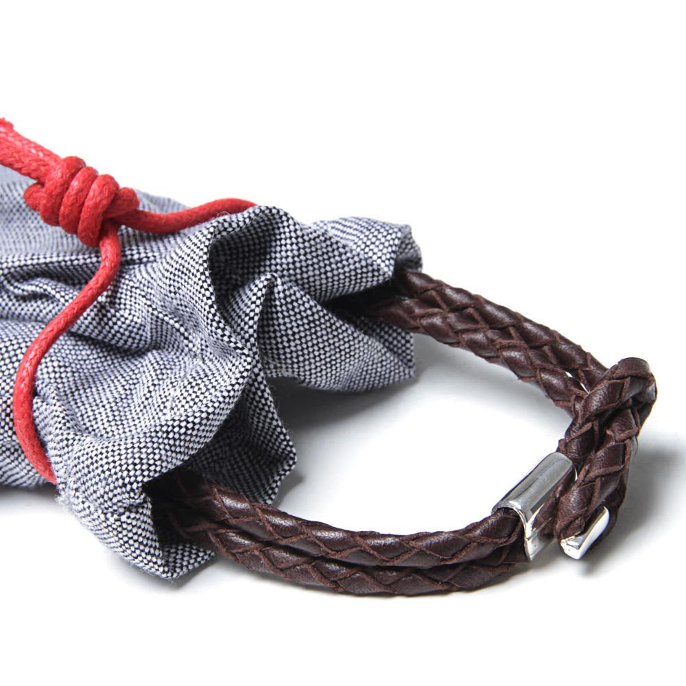 Miansai Savoy Leather Bracelet  - Brown