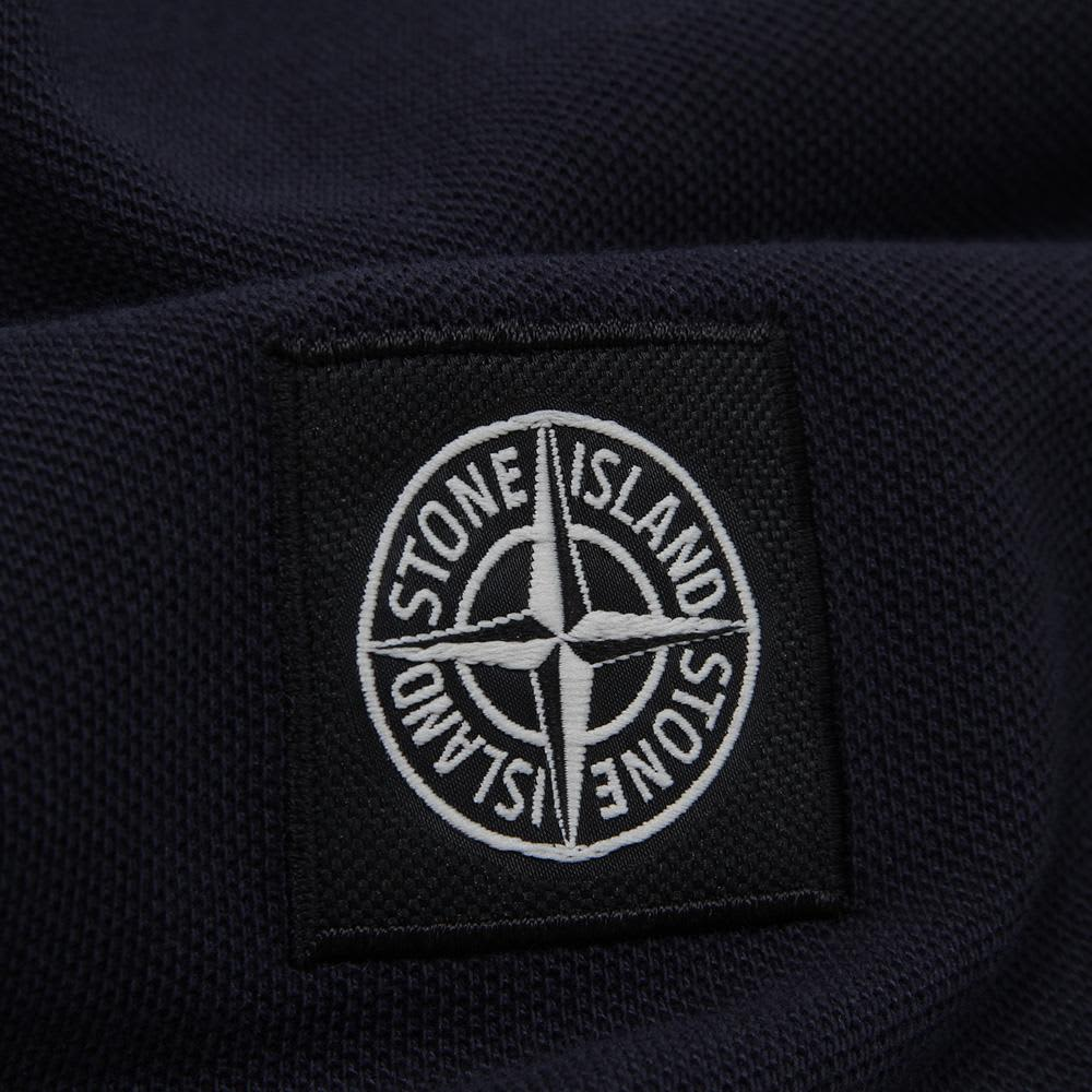 Stone Island Regular Fit Long Sleeved Polo - Blue