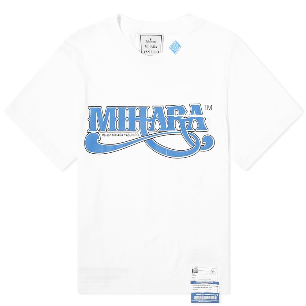 Maison MIHARA YASUHIRO Logo Pocket Tee - White