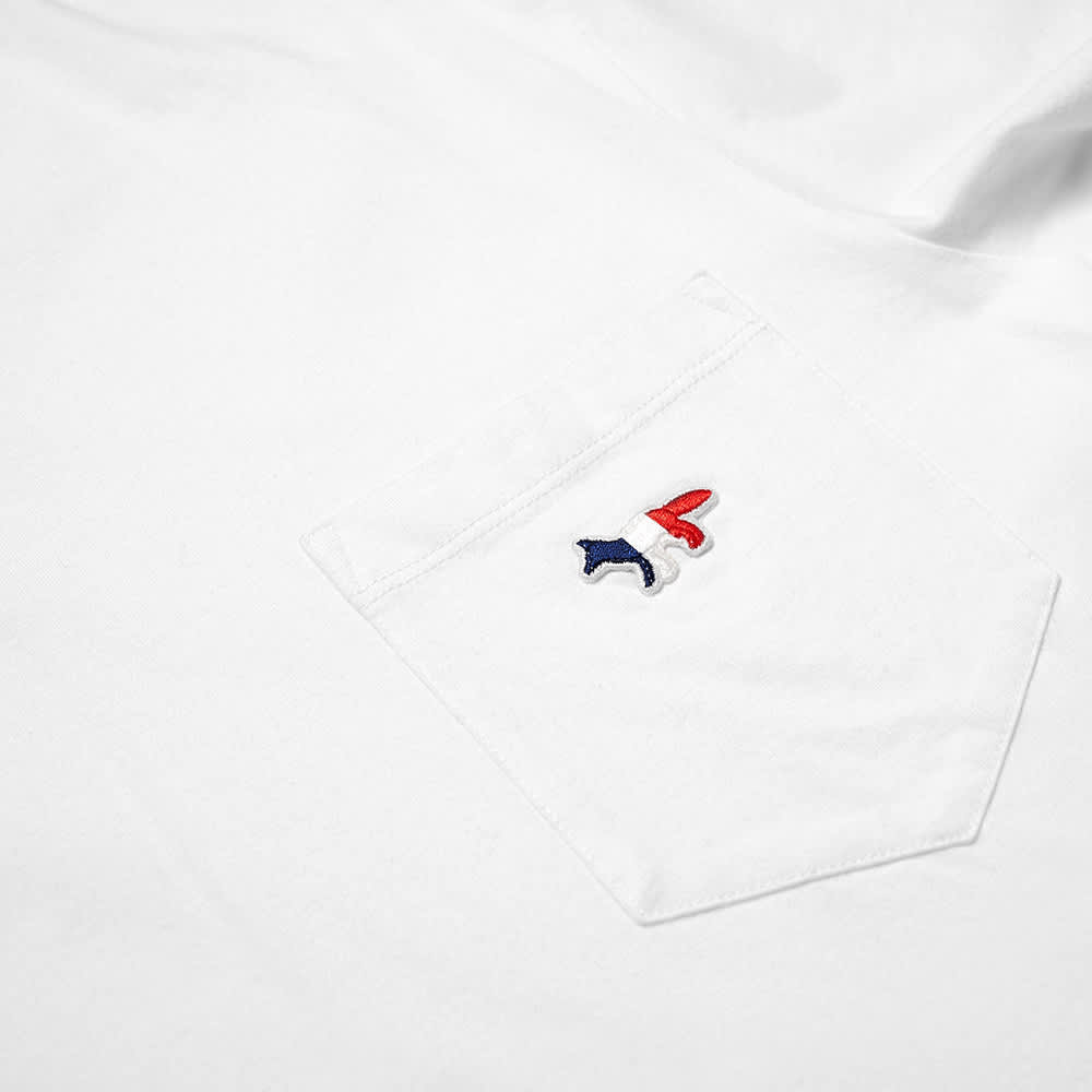 Maison Kitsuné Tricolour Fox Patch Pocket Tee - White