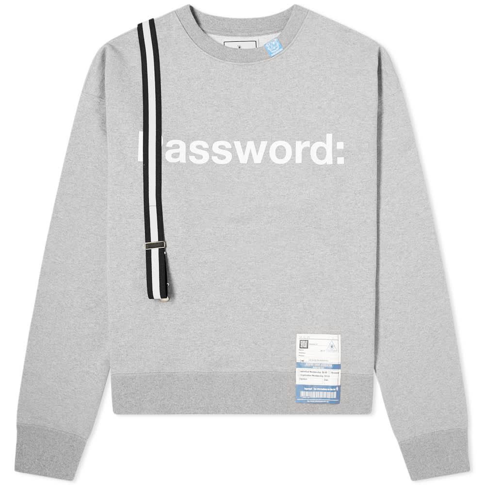 Maison MIHARA YASUHIRO Password Crew Sweat - Grey
