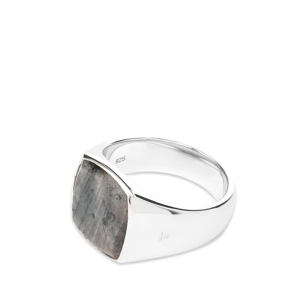 Tom Wood Cushion Ring - Silver & Larvikite