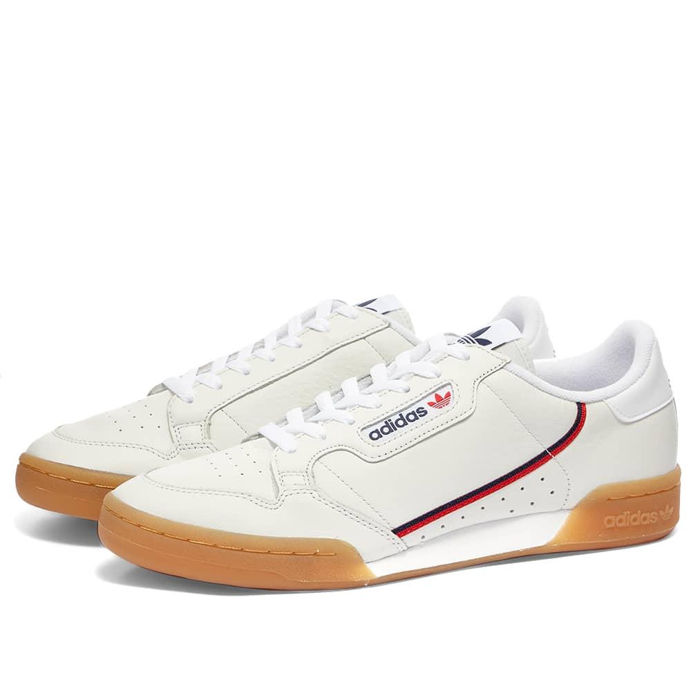 Adidas Continental 80 White, Crystal
