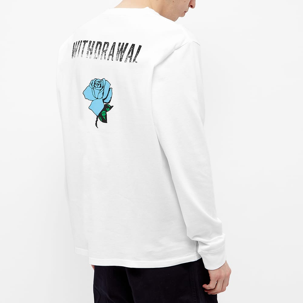 Undercover Long Sleeve Withdrawl Rose Tee - White