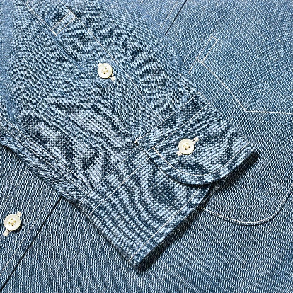 orSlow Button Down Chambray Shirt - Chambray
