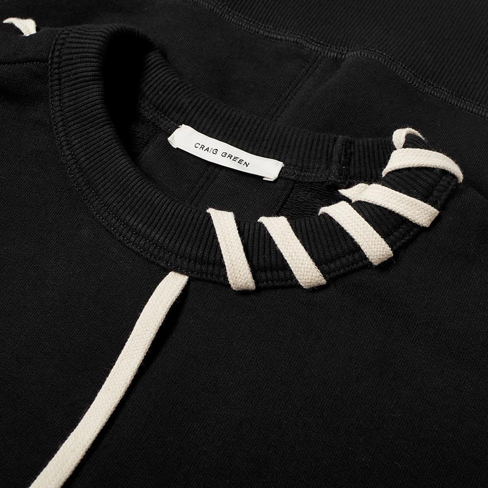 Craig Green Laced Sweat - Black & Cream