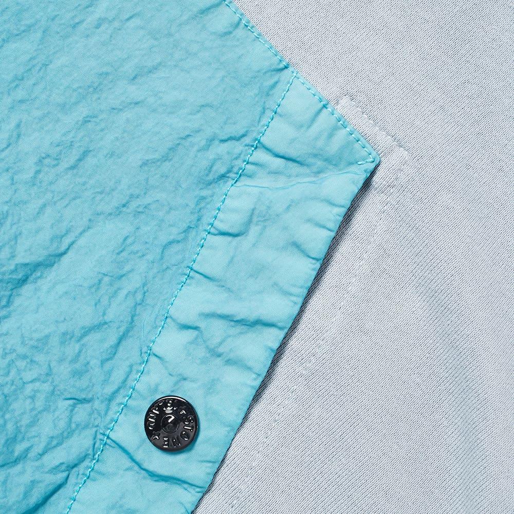 Stone Island Shadow Project Compact Fleece Hoody - Blue