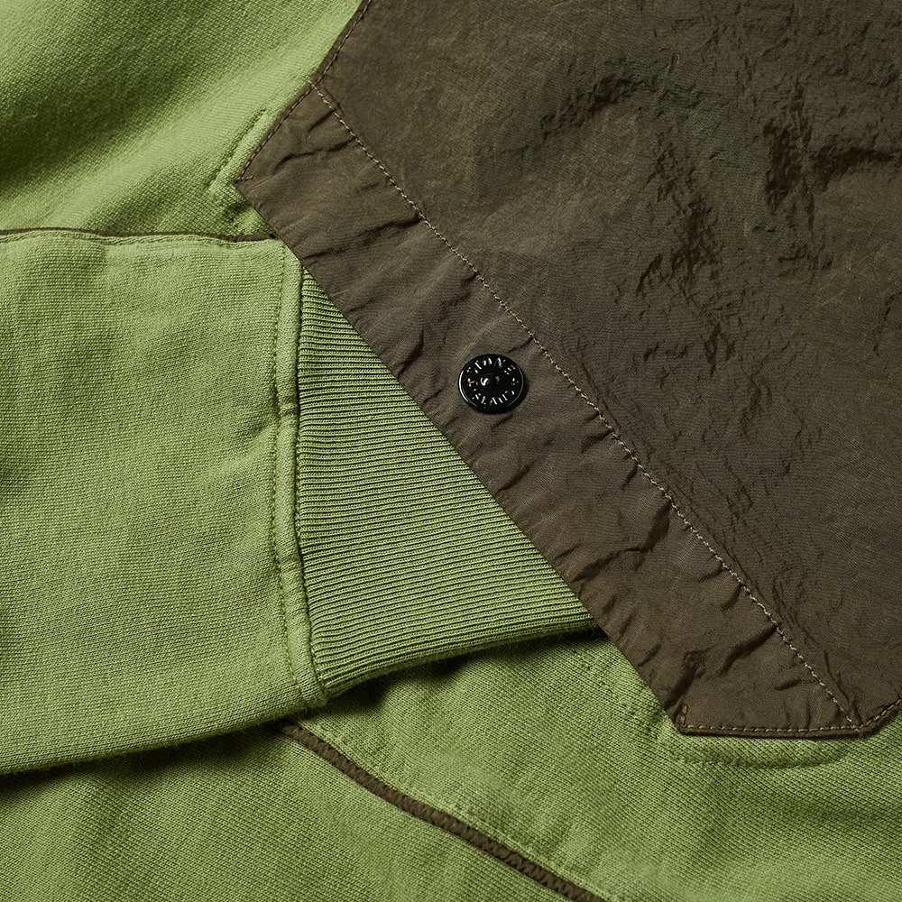 Stone Island Shadow Project Compact Fleece Hoody - Olive