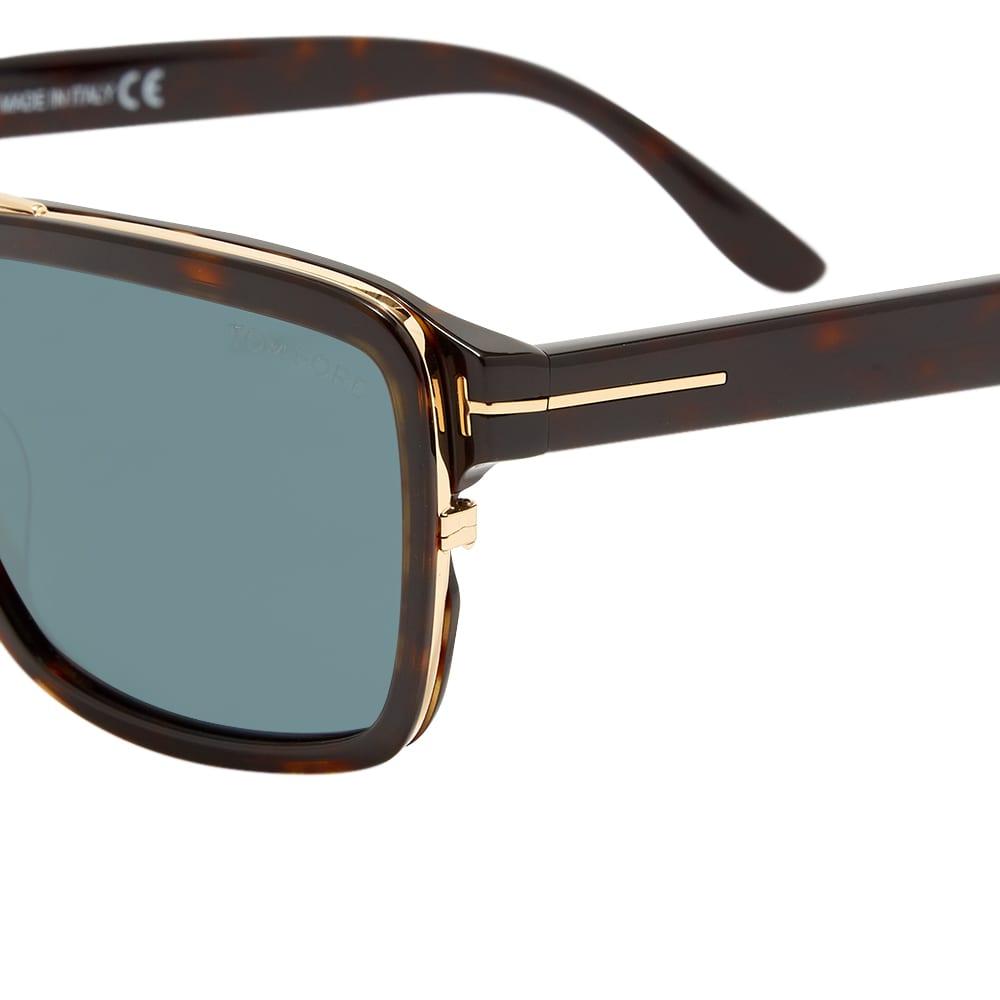 Tom Ford FT0780 Anders Sunglasses - Dark Havana & Green