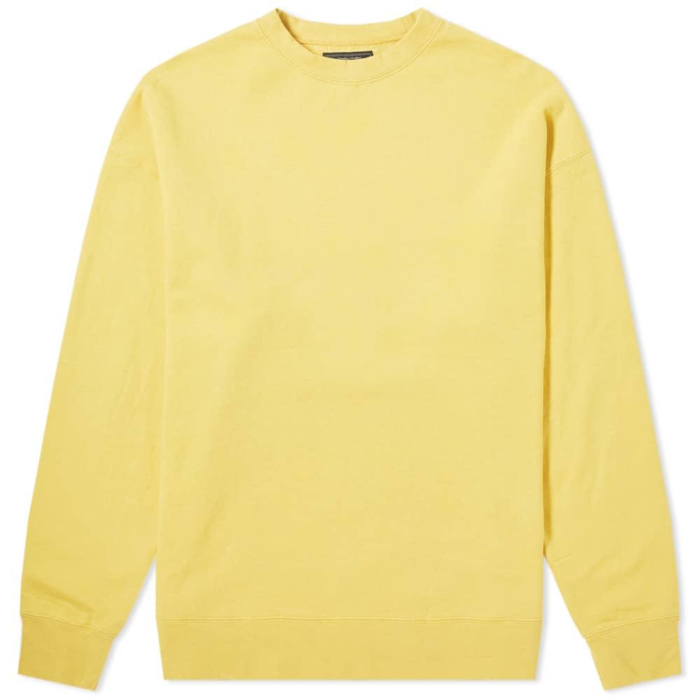 Beams Plus Crew Sweat - Yellow