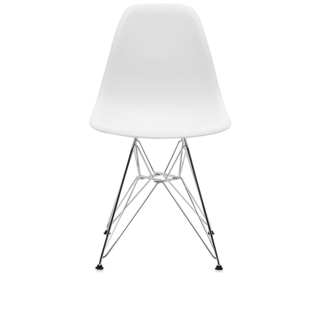 Vitra Eames DSR Side Chair Chrome Legs - White