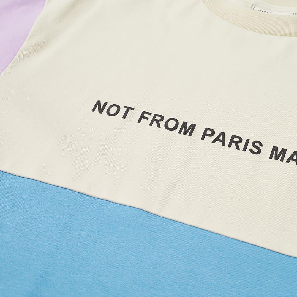 Drôle de Monsieur Not From Paris Madame Panelled Tee - Blue Sky