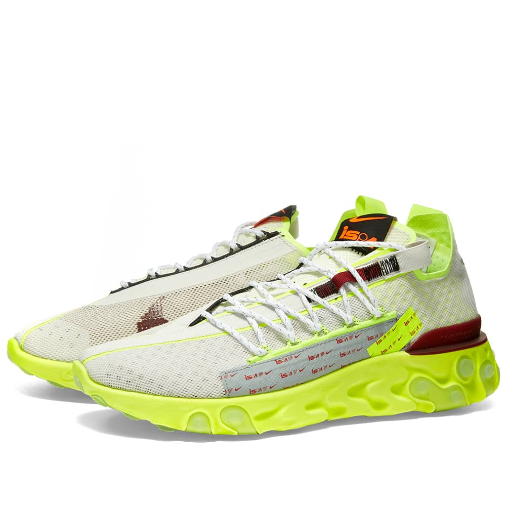 Nike React ISPA Platinum Tint, Team Red