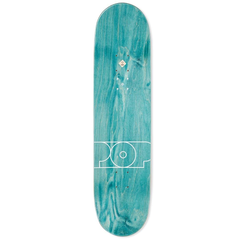"Pop Trading Company Amsterdam 8.1"" Skate Deck - Green"