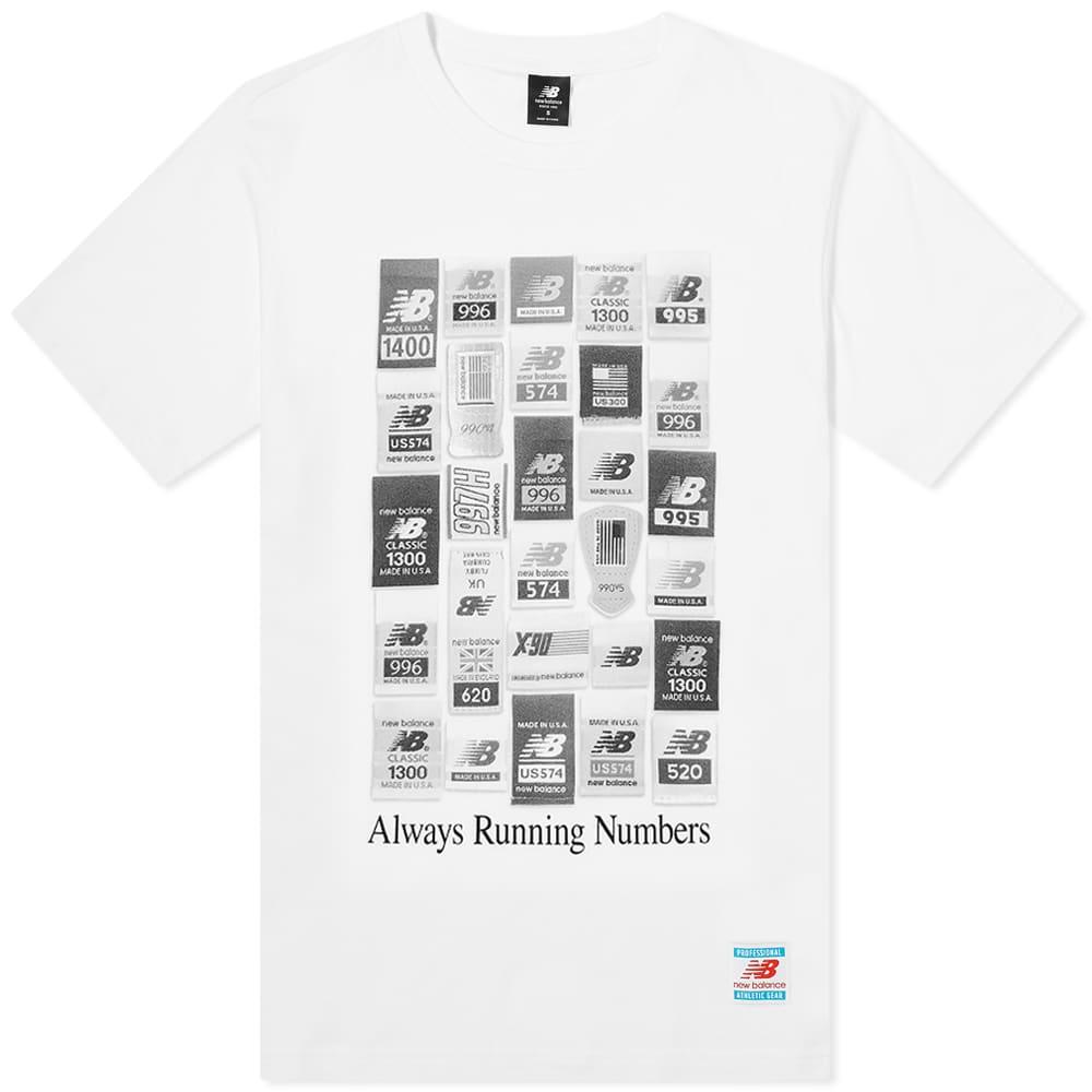 New Balance Essentials Brand Label Pack Tee - White