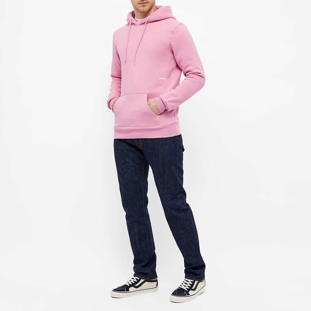 Soulland Wallance Logo Hoody - Pink