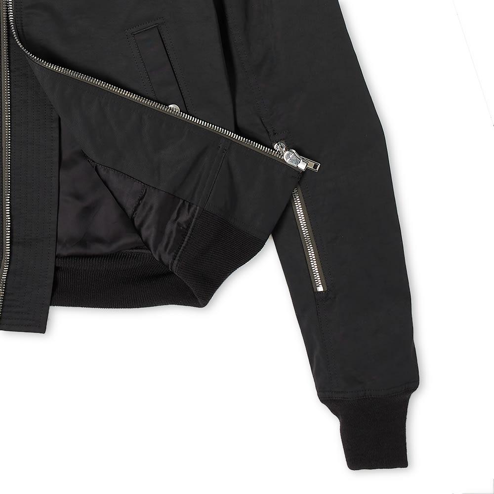 Rick Owens Cropped Flight Bomber Jacket - Black