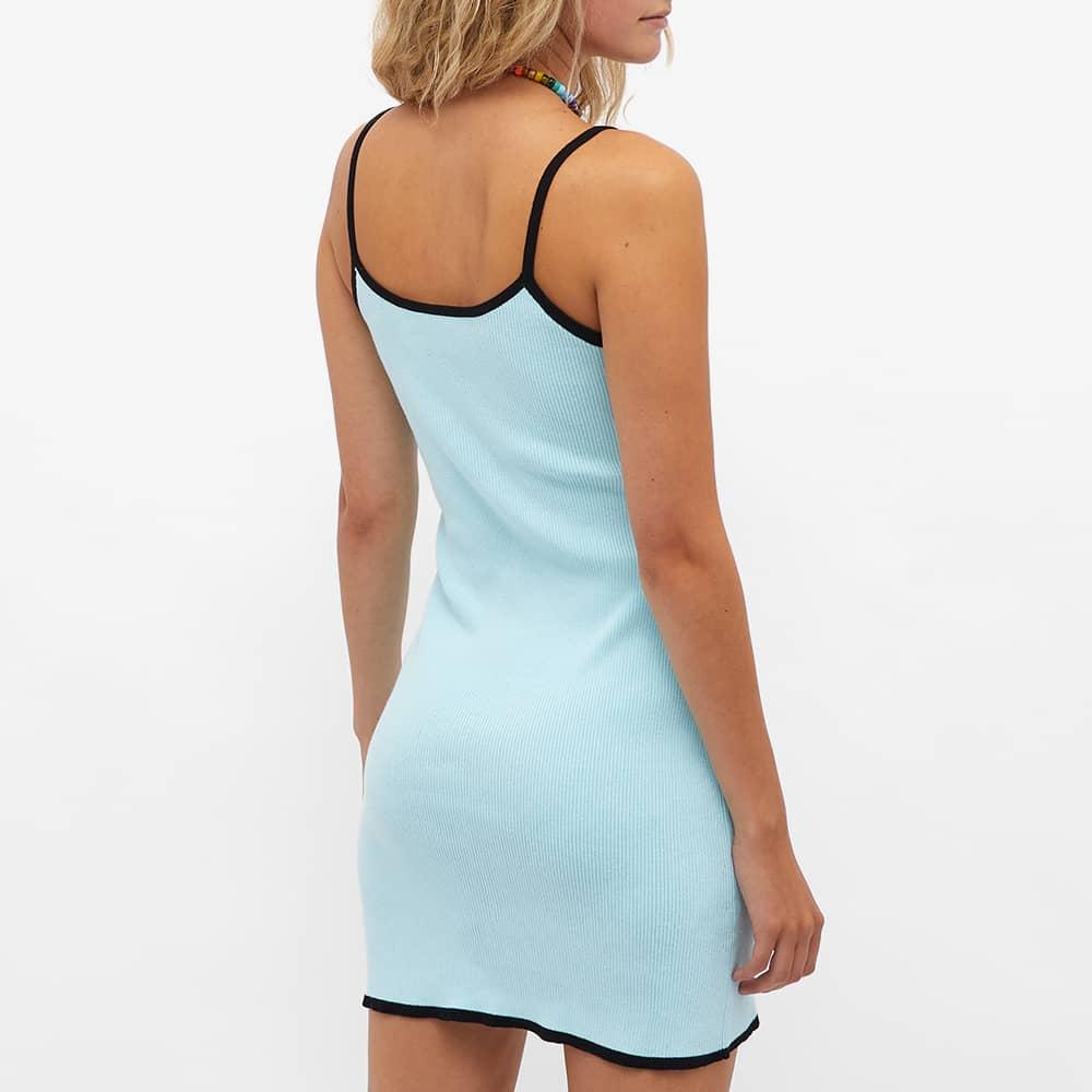OpéraSPORT Suzanne Rib Knit Tank Dress - Blue