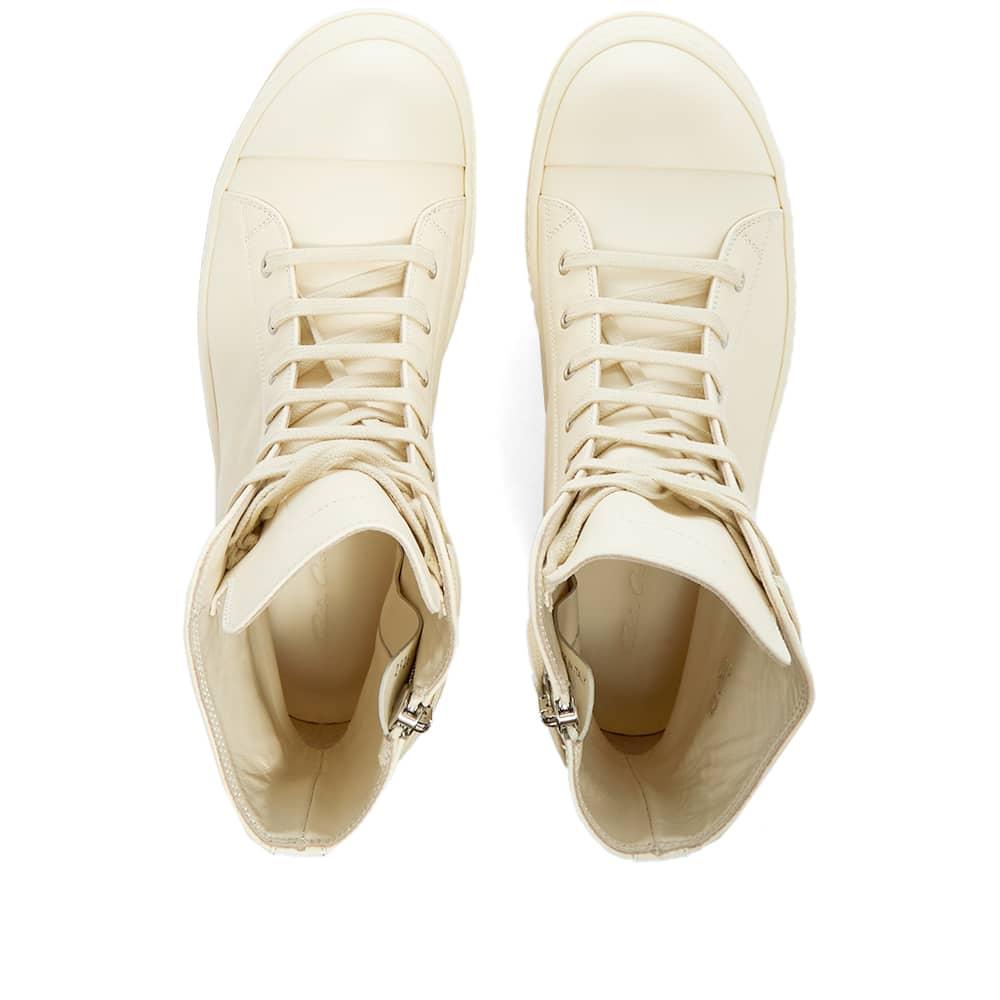 Rick Owens High Top Sneaker - Milk