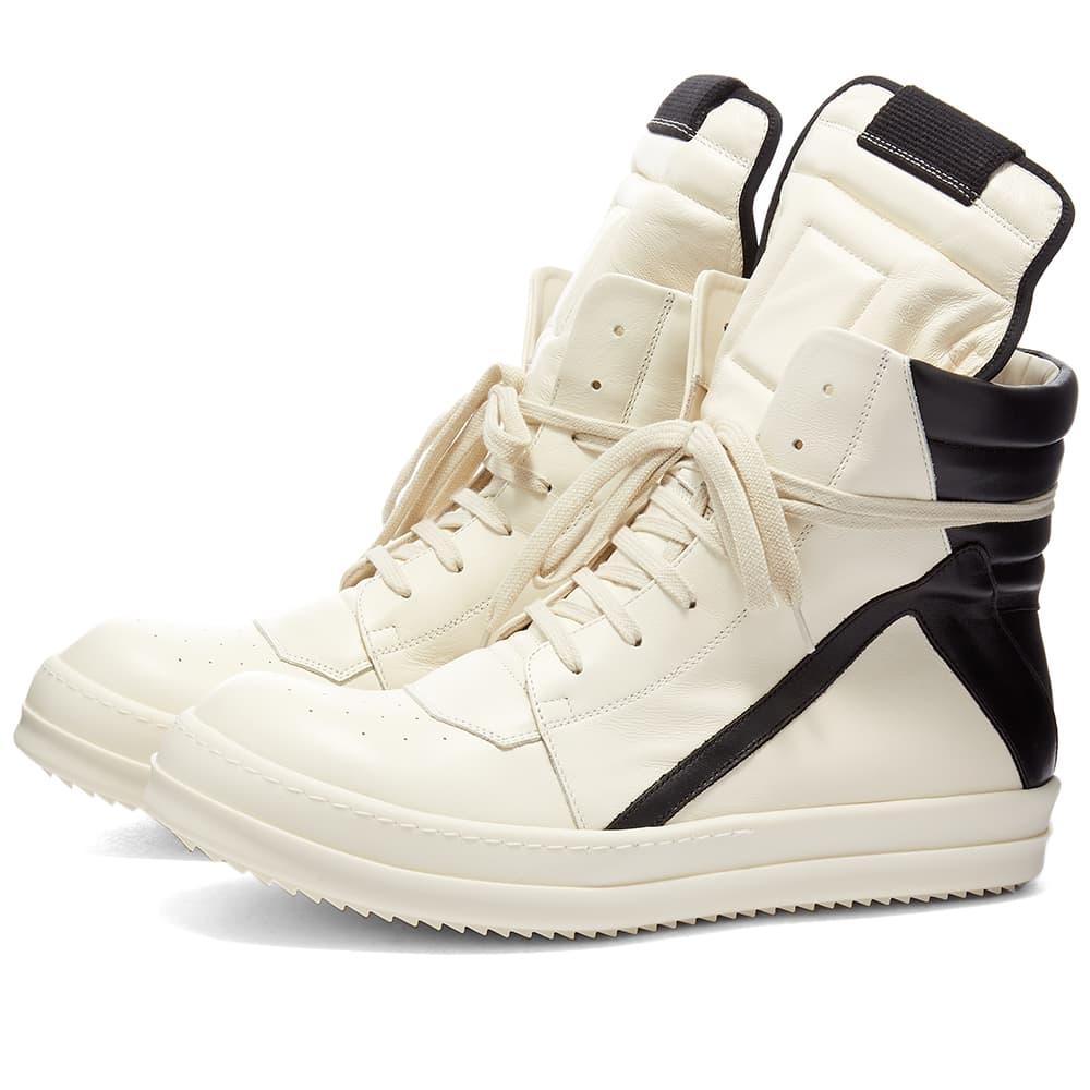Rick Owens Geobasket Sneaker - Milk & Black