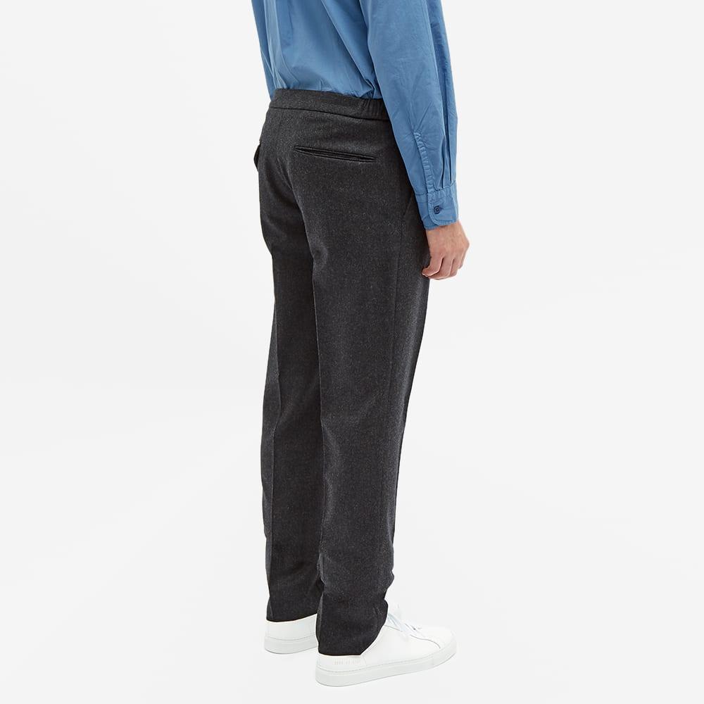 Incotex Drawstring Elasticated Waist Slim Fit Wool Trouser - Dark Grey
