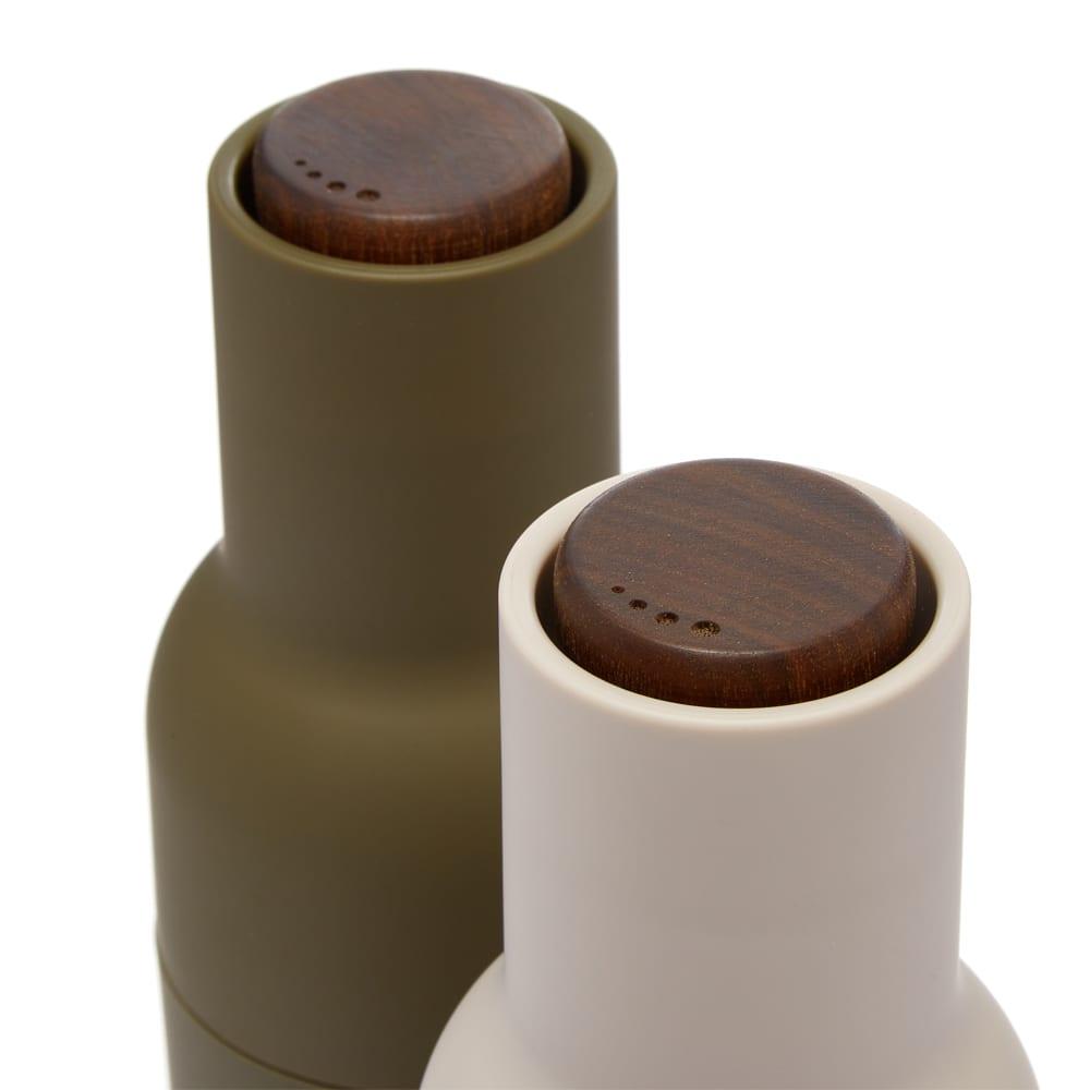 Menu Bottle Grinders Walnut Lid - Hunting Green & Beige