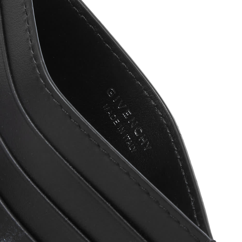 Givenchy Ring Logo Print Card Holder - Black