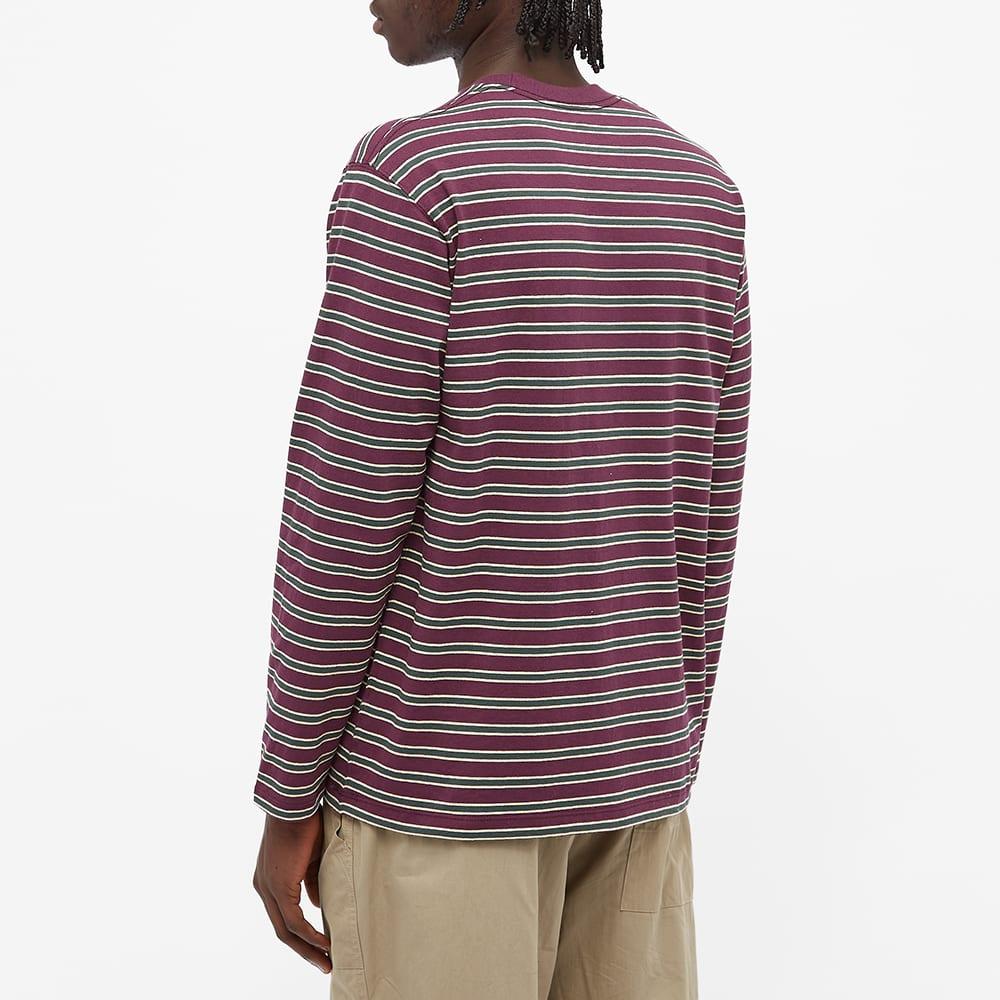 Danton Long Sleeve Stripe Tee - Purple Multi Stripe