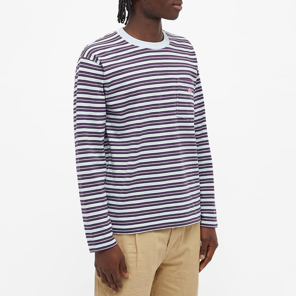Danton Long Sleeve Stripe Tee - Sax Multi Stripe