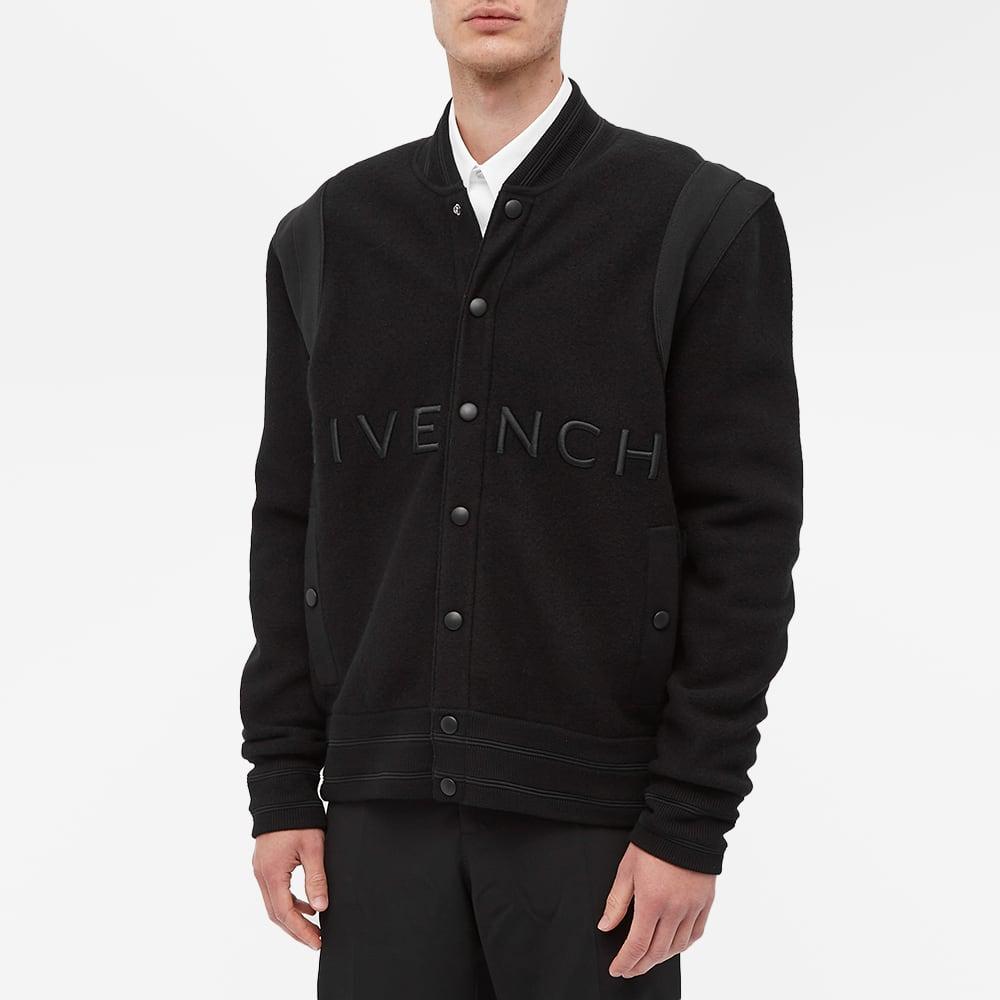 Givenchy Logo Knit Bomber Jacket - Black