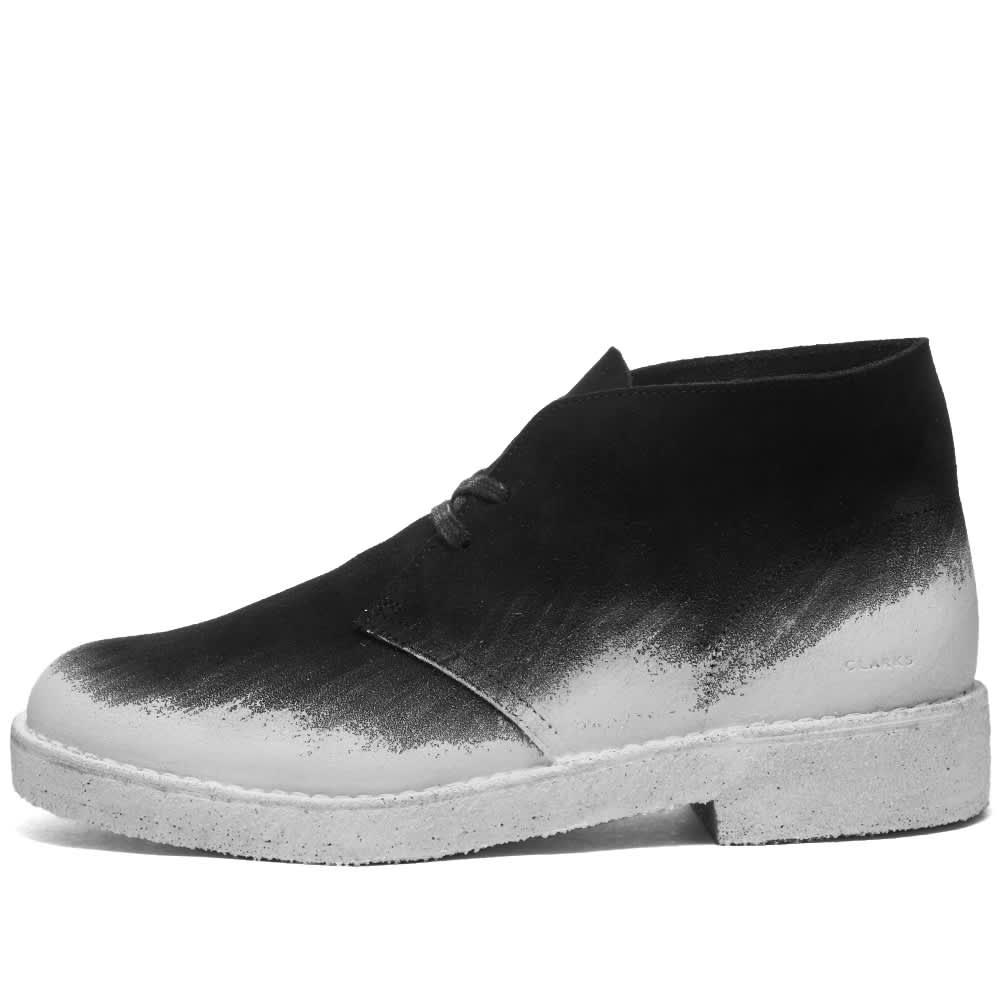 Clarks Originals Desert Boot Paint - Black & White