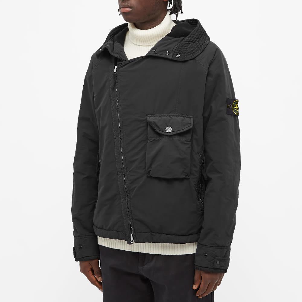 Stone Island David  Light-Tc Asymmetric Zip Jacket - Black