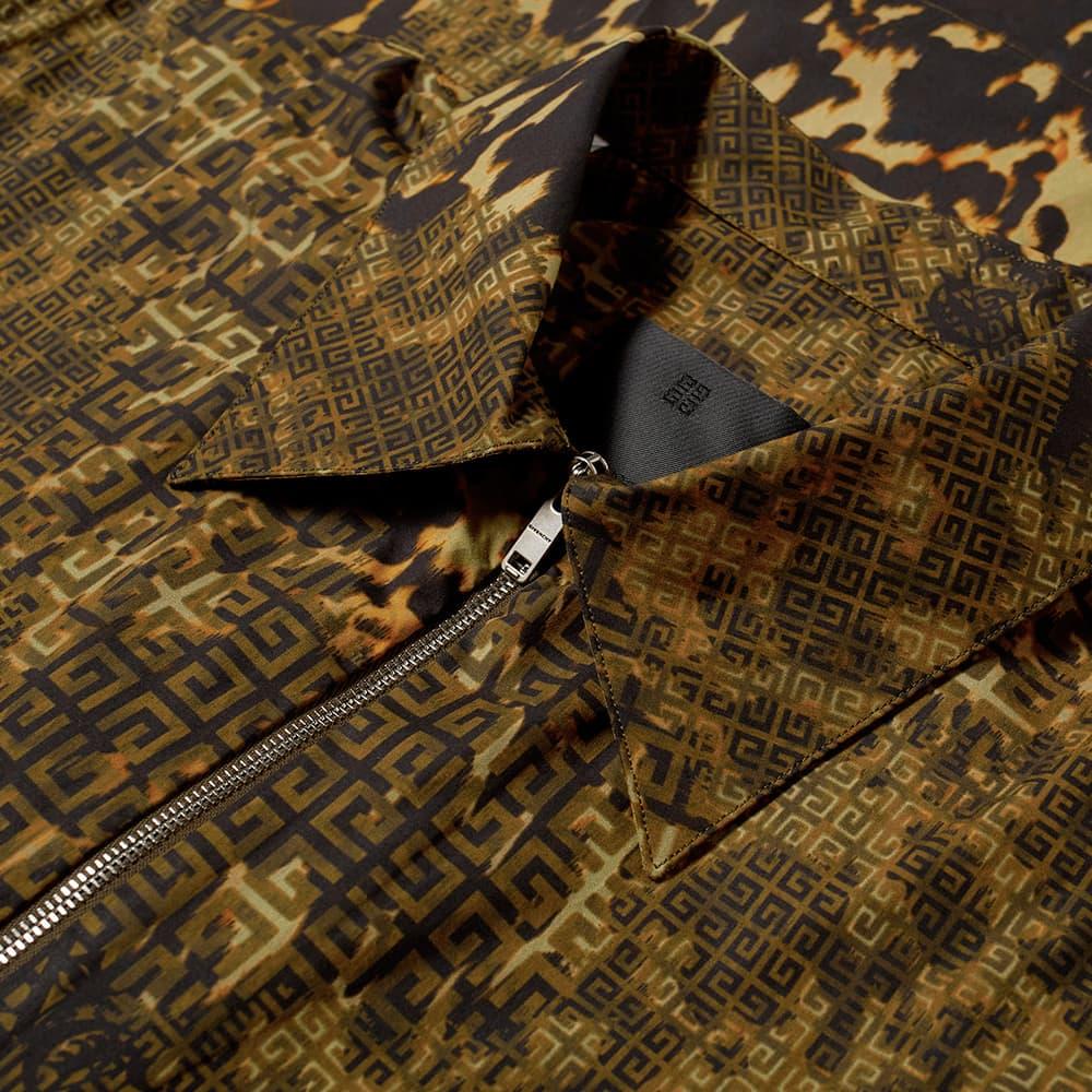 Givenchy 4G Mash Up Short Sleeve Zip Shirt - Brown & Khaki