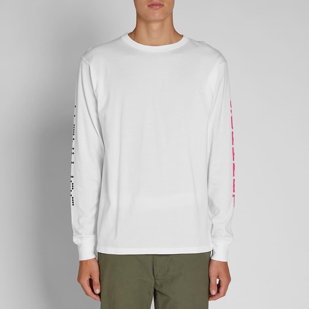 SOPHNET. Long Sleeve Authentic Logo Tee - White