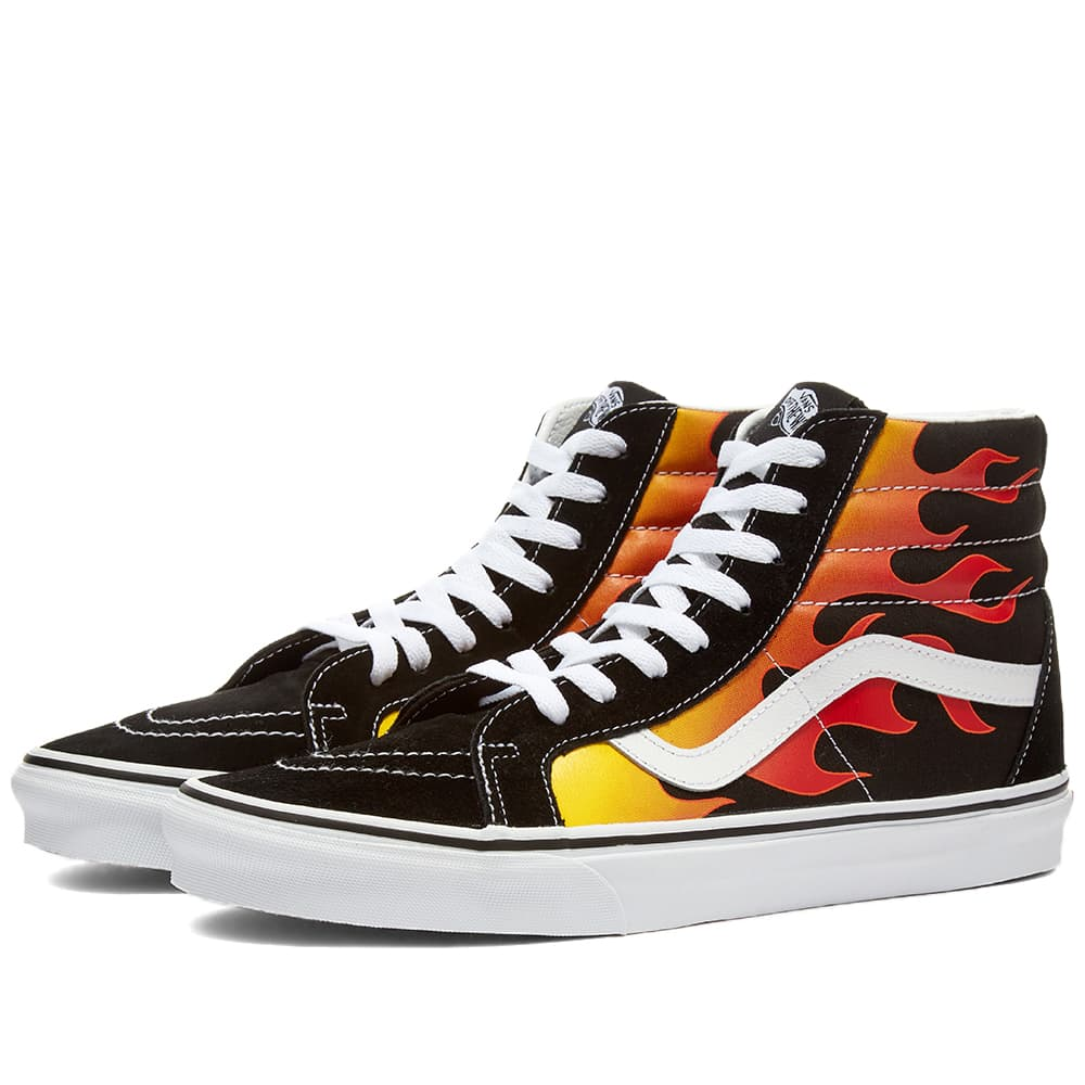 Vans UA Sk8-Hi Flame Black \u0026 True White