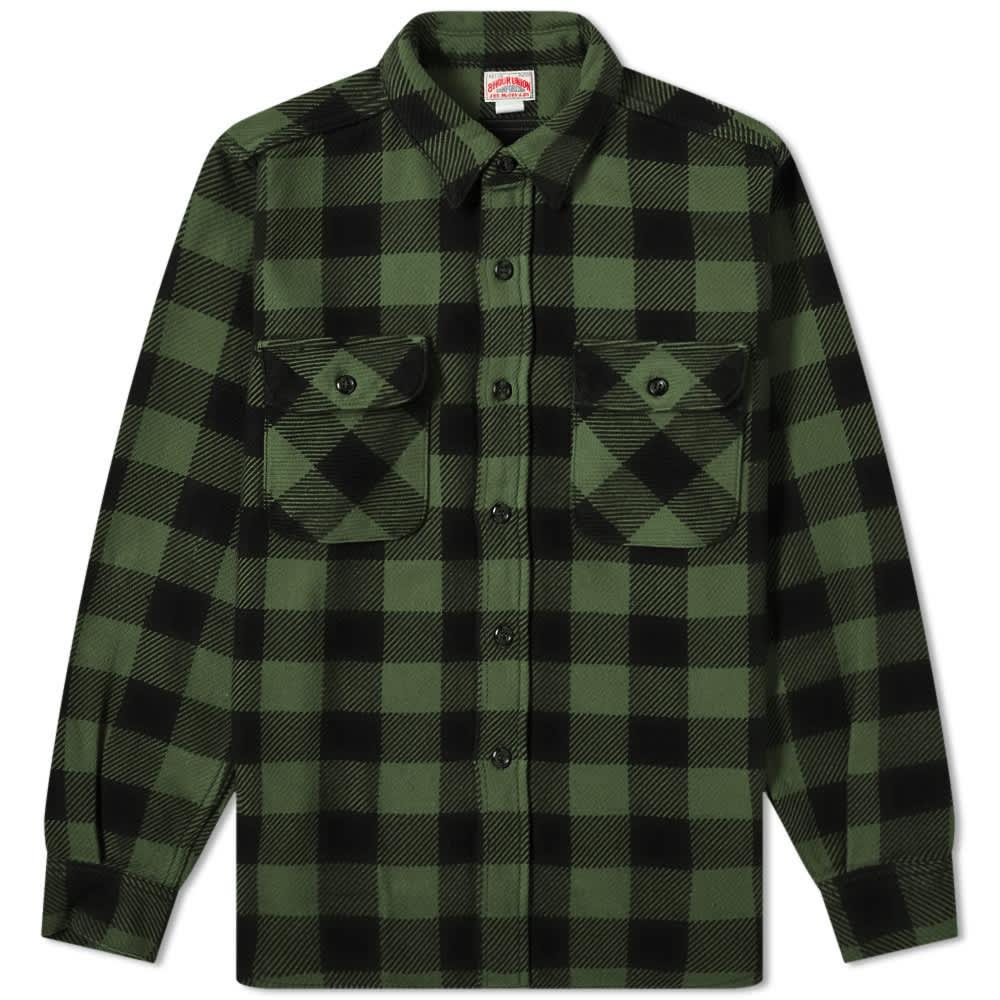 The Real McCoy's Joe Mccoy Buffalo Flannel Shirt - Forest & Black