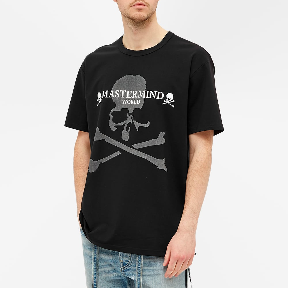 MASTERMIND WORLD Reflective Skull Logo Tee - Black