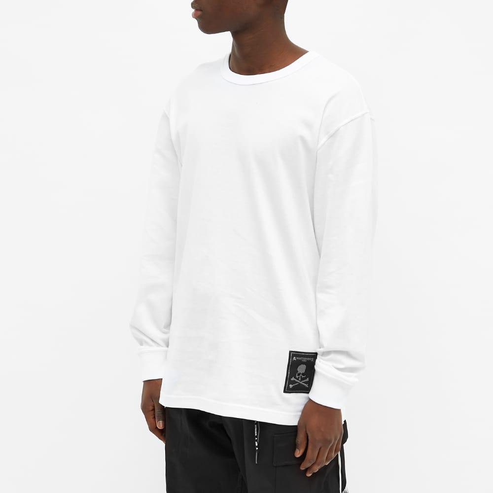 MASTERMIND WORLD Label Logo Long Sleeve Tee - White