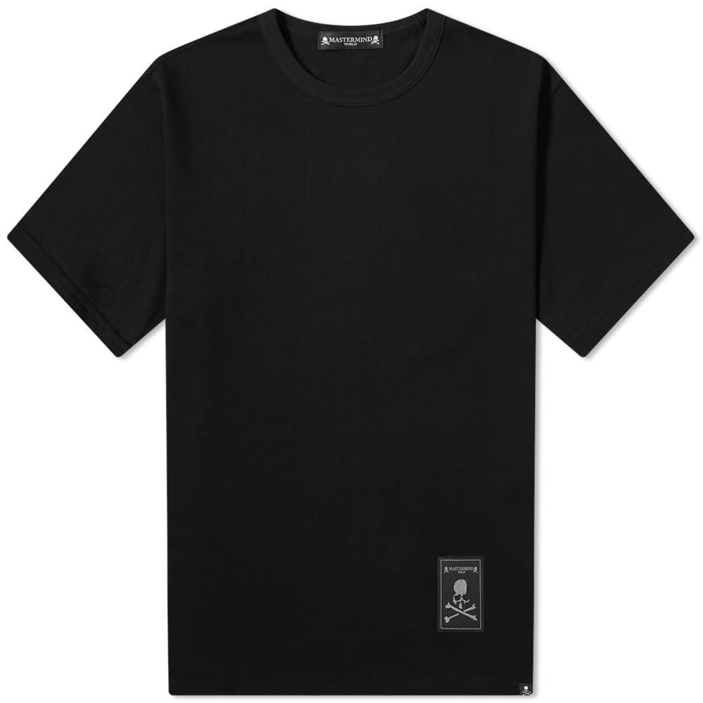MASTERMIND WORLD Label Logo Tee - Black