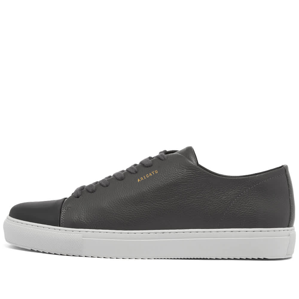 Axel Arigato Toe Cap Sneaker - Dark Grey Leather