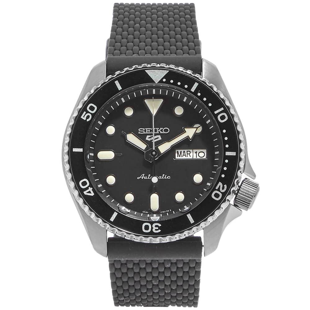 Seiko 5 Sports Watch - Black & Black PVD