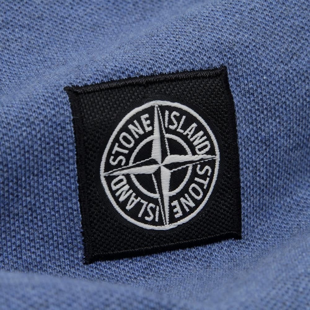 Stone Island Regular Fit Long Sleeved Polo - Blue Marl