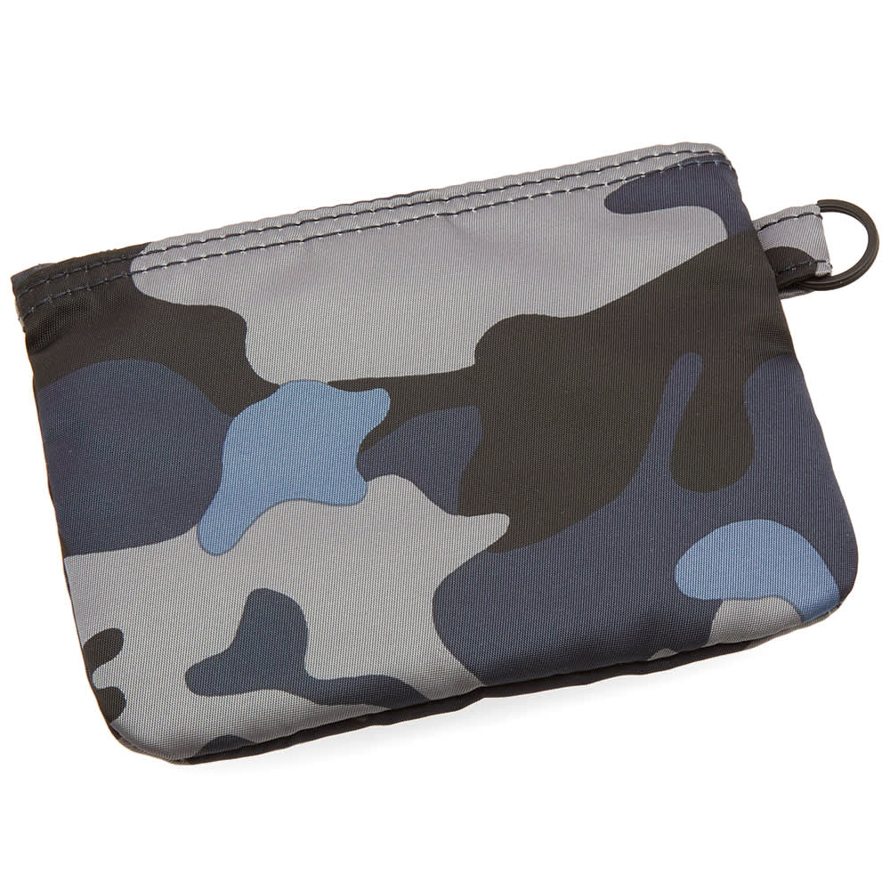 Head Porter Jungle Camo Zip Wallet - Dark Navy Camo