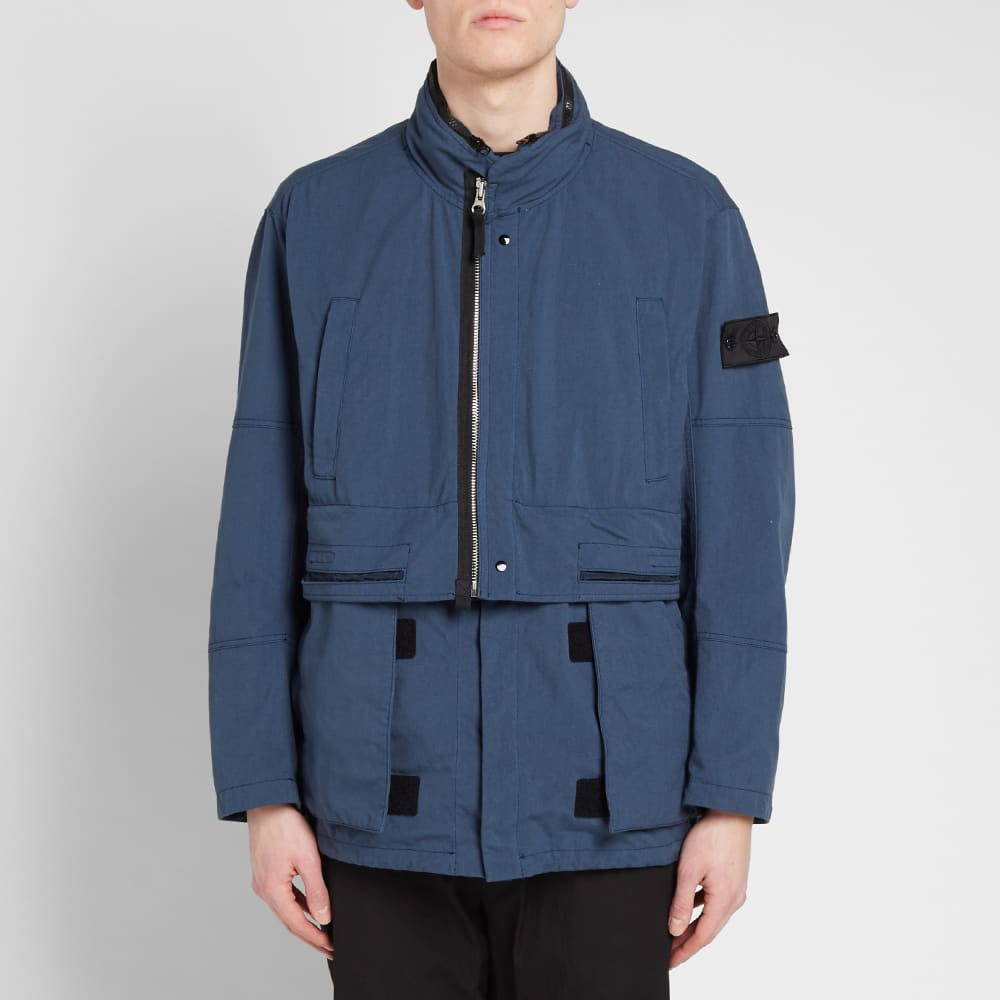 Stone Island Shadow Project Hollow Core Concealed Hood Jacket - Blue