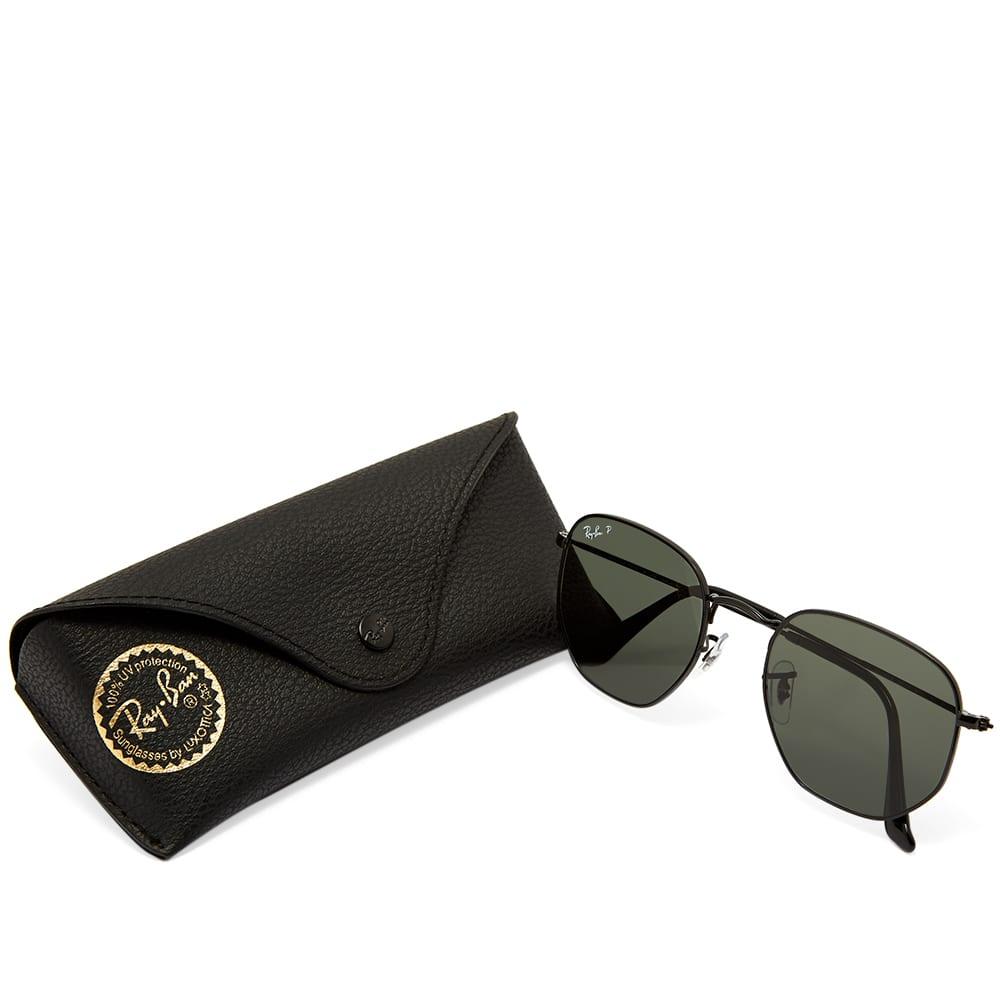 Ray Ban Hexagonal Sunglasses - Black & Polar Green
