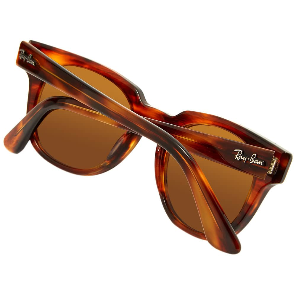 Ray Ban Meteor Classic Sunglasses - Striped Havana & Brown