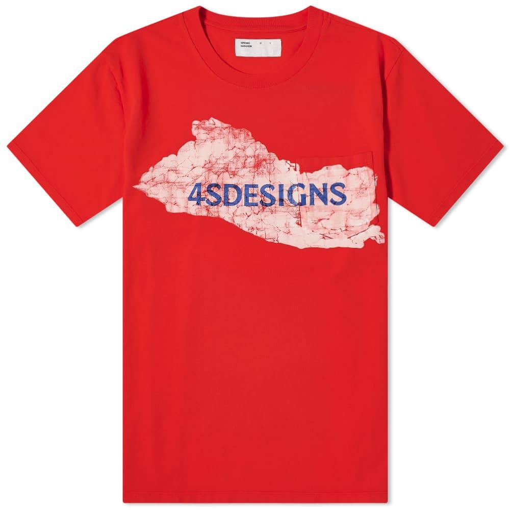 4SDesigns Tie Dye Logo Tee - Red